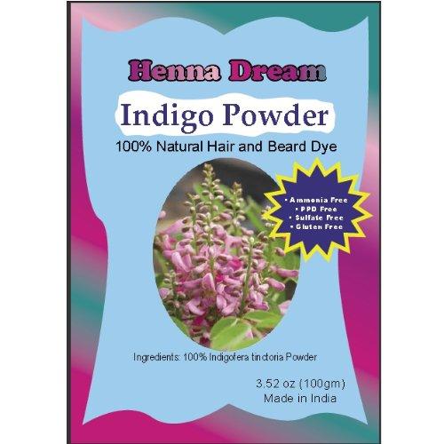 Pure Indigo Powder for Hair Dye (500 gm) by Henna Dream