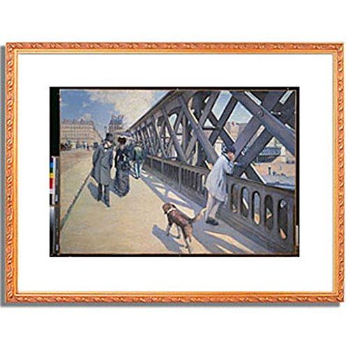 ギュスターヴカイユボット Gustave Caillebotte「ヨーロッパ橋 The Europe Bridge. 1876 」 インテリア アート 絵画 プリント 額装作品 4.フレーム:装飾(金) サイズ:XL (563mm X 745mm) B00NKTMVSM 4.XL(563mm X 745mm)|4.フレーム:装飾(金) 4.フレーム:装飾(金) 4.XL(563mm X 745mm)