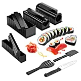 Sushi Making Kit, AGPtEK Sushi Maker 11PCS Complete with Premium Sushi Knife & User Manual, 11 Pieces DIY Sushi Set Sushi Rolls