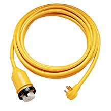 ParkPower by Marinco 124ARV-25 RV Electrical Power Cordset (50-amp 125/250-Volt Receptacle with 30-Amp 125-Volt RV Straight Blade Plug, 25-Feet)
