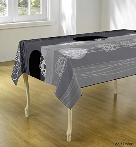 Tablecloth Modern Art, Stain Resistant, Washable, Liquid Spills Bead Up,  Seats 4 To 6 People (Other Size Available: 60 X 80u2033, 60 X 95u2033, 60 X 120u2033).