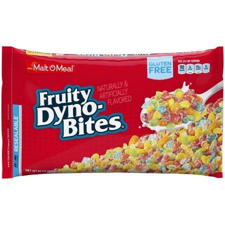 Malt-O-Meal Gluten Free Cereal, Fruity Dyno Bites, 65 Oz, Bag