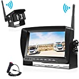 Wireless Backup Camera and Monitor System Kit 2018 New Multifunction Waterproof No Interference No Delay Night Vision Wire free Rear View Cam 7'' LCD HD Reversing Monitor for RV&Truck&Van&Camper&More