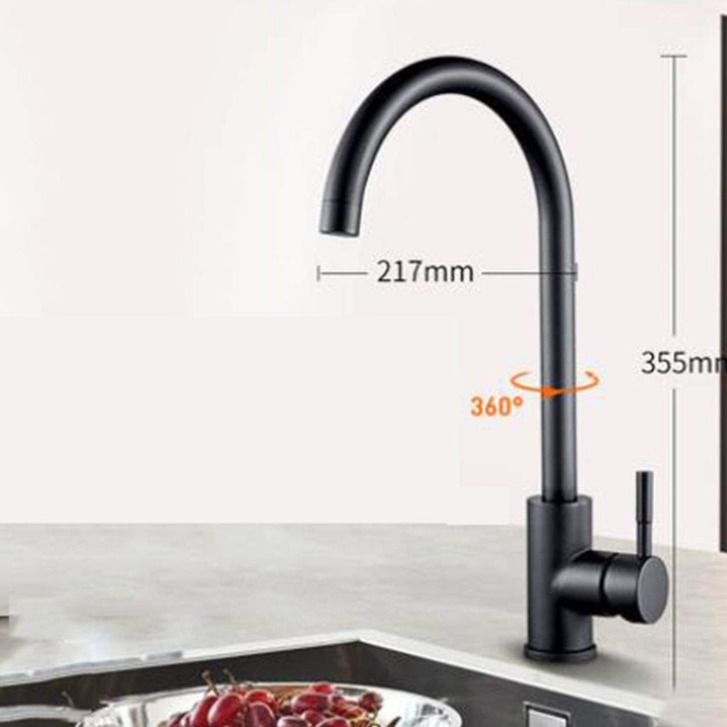 K 304stainless Steel PDV Plating Kitchen Sink Faucet, Touch Faucet 361redating spout Sink Mixer with Drain Assembly Kitchen Bathroom Bathroom -E
