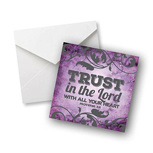 Trust in The Lord with All Your Heart - Proverbs 3:5 - Colored Magnet