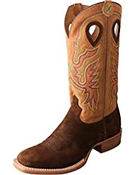 Twisted X Mens Ruff Stock Cowboy Boot Square Toe - Mrs0045wrong
