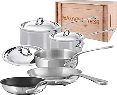 Mauviel M'Cook-8 Piece Set-(5210.17, 5210.19, 5213.26, 5211.25, 5242.20)