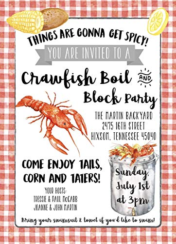 Crawfish Boil Cookout Personalized Invitations