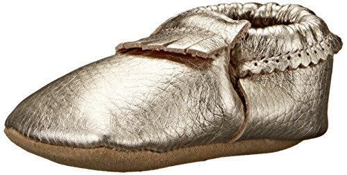 Hanna Andersson Baby Bootie Moc Fringe Baby Moccasin (Infant/Toddler), Light Gold, 3 (3 Moc)
