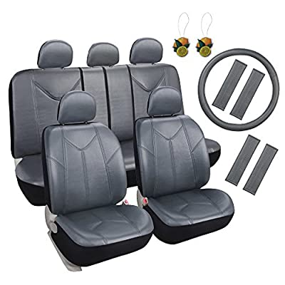Leader Accessories Universal Car Seat Covers Set with Airbag