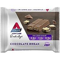 Atkins Endulge Chocolate Break Bars | Keto Friendly Bars | 3 x 21.5g Low Carb Chocolate Bars | Low Carb, Low Sugar, High Fibre | 3 Bar Pack