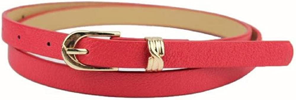 ZZpioneer Womens Elegant Fashion Belt Candy Color Leather Waistband Dress Accessories Length:105CM