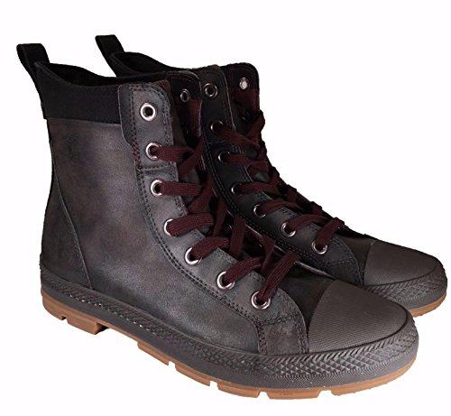 82d0868298cc Converse Men s CT Sargent Hi Dark Deep Taupe Black Motorcycle Boots ...