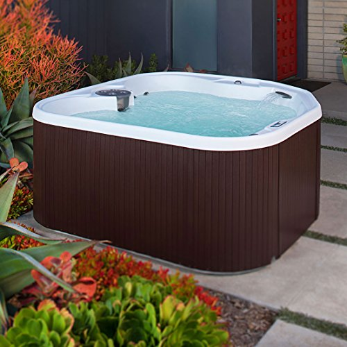 (LifeSmart 400DX 5-Person Rock Solid Plug and Play Spa with 19 Jets Plus Bonus Waterfall Jet and Free Super Energy Saving Value Package)