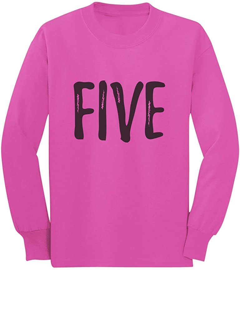 5th Birthday Gift for Five Year Old Child Toddler//Kids Long Sleeve T-Shirt