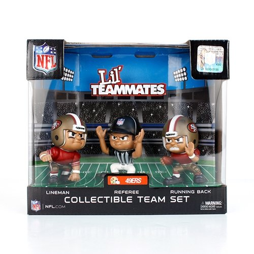- Lil' Teammates 3 Figurine San Francisco 49ers NFL Team Set (Pack of 3)