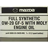 12PK MAZDA FULL SYNTHETIC 0W-20 GF-5 WITH MOLY ENGINE OIL