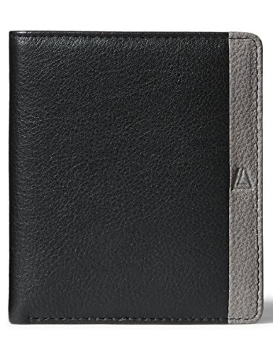 Leather Architect Men's 100% Leather RFID Blocking Classic Bifold Wallet Black - Bi Fold Classic