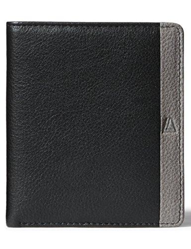 Leather Architect Men's 100% Leather RFID Blocking Classic Bifold Wallet Black - Fold Bi Classic