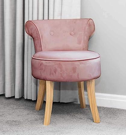 Super Sue Ryder Rose Pink Velvet Vanity Dressing Table Stool Natural Wooden Legs Cjindustries Chair Design For Home Cjindustriesco