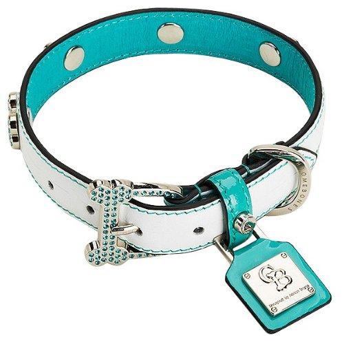 Chrome Bones Heaven Diamonds Pet Collar, Small, ()