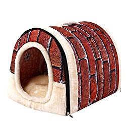 BB67 Pet House Dog Cat Bed House Warm Soft Mat Bedding Igloo Basket Kennel Washable Snug