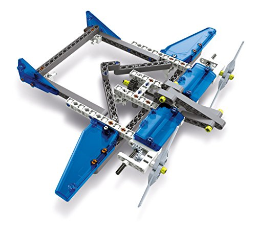 Clementoni Mechanics Laboratory Aeroplanes & Helicopters Model Assembly Kit, 10 Model Configurations, Ages 8 and Up