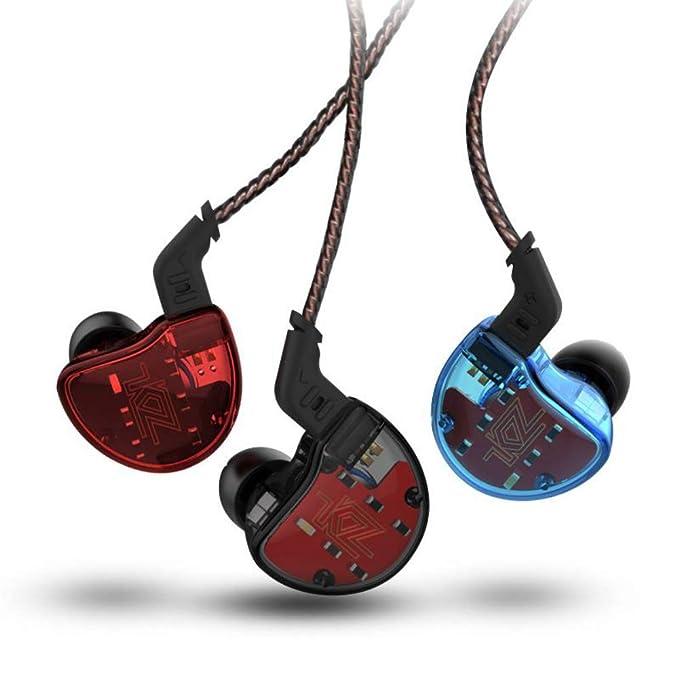 Auricular Auricular Auricular KZ ZS10 4BA 1 Dinámico Híbrido HI FI DJ Monitor En Auriculares (Sin micrófono, Azul)