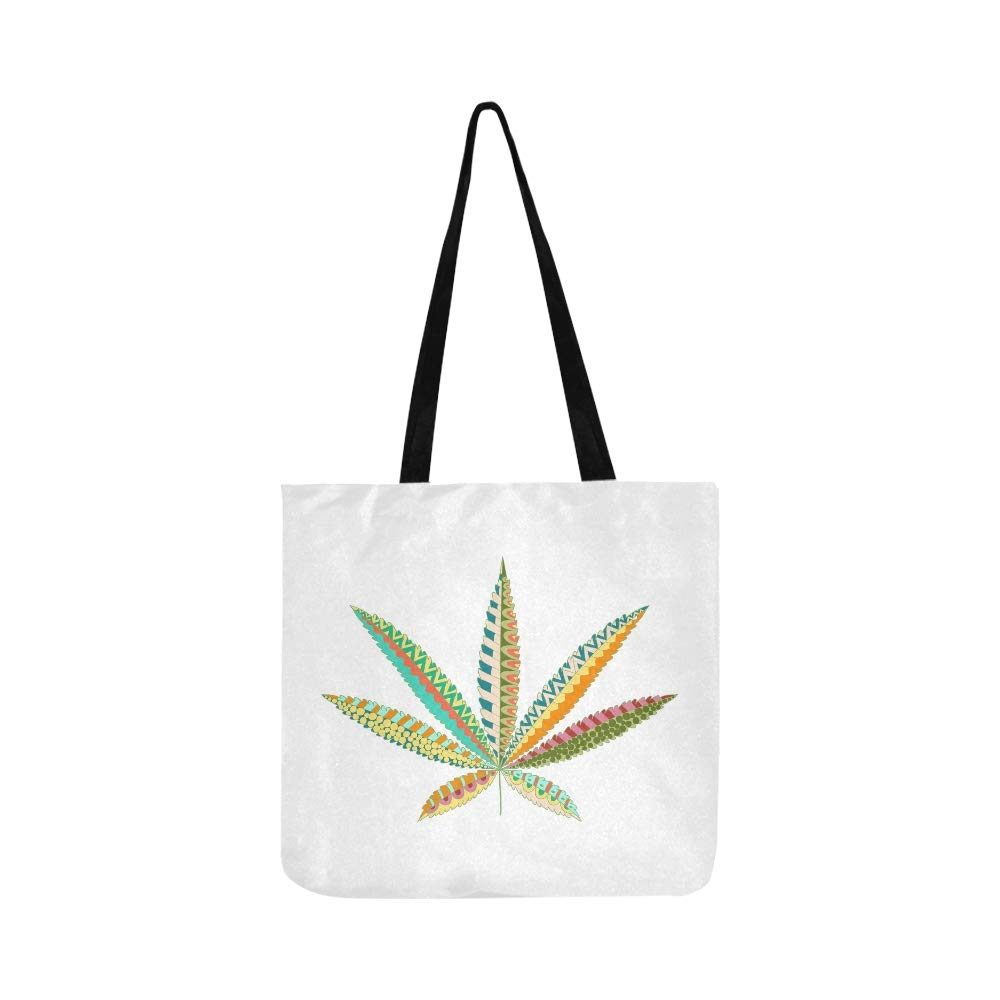 Cáñamo Cannabis Leaf Zentangle Style Marijuana Canvas Tote ...