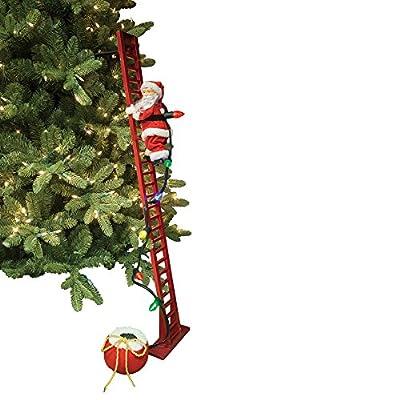 Mr. Christmas Super Climbing Santa Holiday Decor, Red