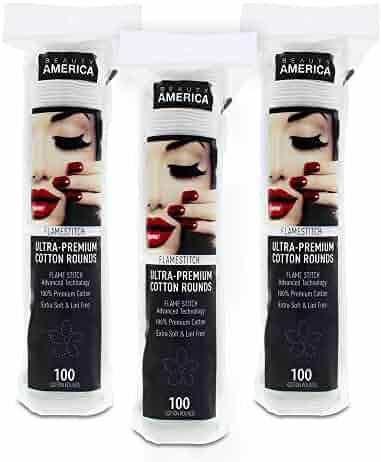 Beauty America Ultra-Premium Flower Flamestitch Cotton Round, 3x100 Count