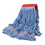 Boardwalk Cotton Mop Heads, Cotton/synthetic, Large, Looped End, Wideband, Blue, 12/ct BWKLM30311L Includes 12 mop