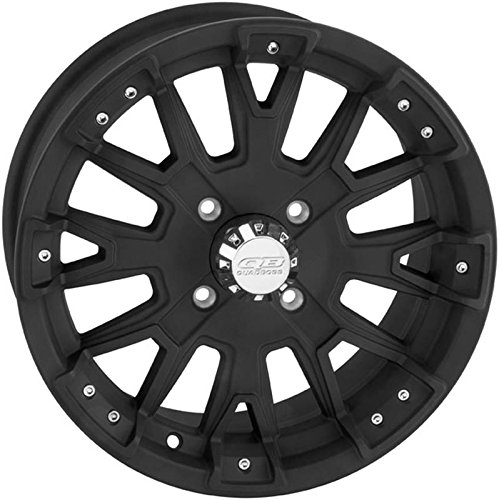 QuadBoss Scoville Boss Wheel - 15x7 - 5+2 Offset - 4/137 - Matte Black , Bolt Pattern: 4/137, Rim Offset: 5+2, Wheel Rim Size: 15x7, Color: Black, Position: Front/Rear RT-GW17A157137DBB