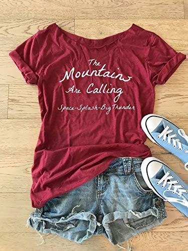 The Mountains Are Calling Space Splash Big Thunder. Women's Disney Shirt. Women's Wide Neck Shirt. Women's Relaxed Fit. Disney Shirt. by GirlThreads