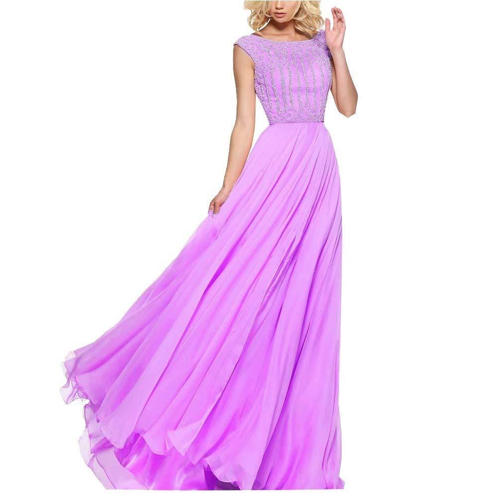 Dark Purple Unions Women Crystal Beaded Tulle Prom Dress A Line Long Split Formal Evening Gown