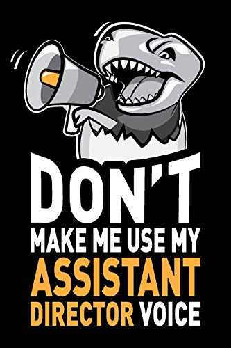 Dont Make Me Use My Assistant Director Voice: Funny Assistant Director Journal Notebook Diary Gag Appreciation Thank You Gift Swapchops Humor