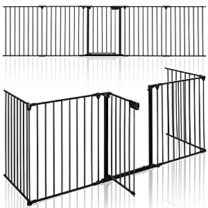 KIDUKU® Barriera di sicurezza 305 cm per Bambini e Animali | Cancelletto Griglia di Sicurezza per Camino - Preassemblato… 2 spesavip