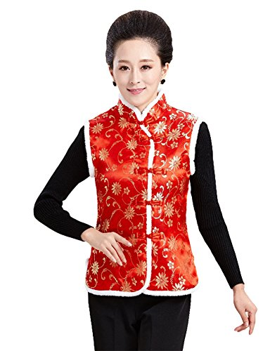 AvaCostume Womens Embroidery Collar Sleeveless