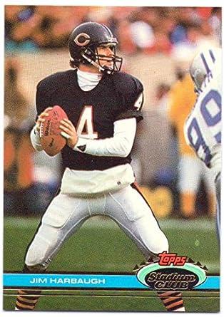 new style 7efa7 6316a Jim Harbaugh 1991 Stadium Club #396 - Chicago Bears at ...
