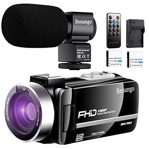 Video Camera Camcorder Ultra HD 1080P 30FPS Vlogging YouTube Camera Remote Control IR Night Vision 3.0