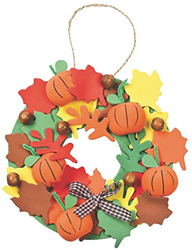3D Pumpkin Wreath Craft Kit - Crafts for Kids & Decoration Crafts (12 Kits)