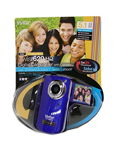 Vivitar DVR620-GRP Ultimate Selfie Digital Camera 5.1 MP with 1.8-Inch TFT LCD, Colors May Vary (Vivitar Digital Photo Frame)