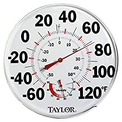Taylor 497 12 Outdoor Thermometer Temperature/Humidity Gauge