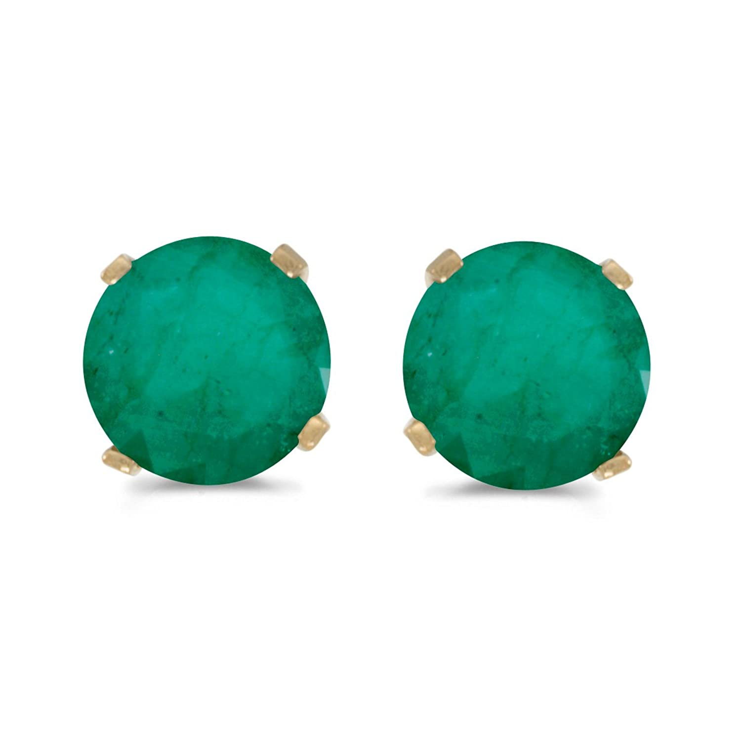 emerald earrings white store gold hoop natural