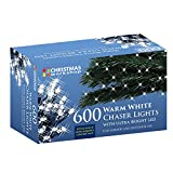 The Christmas Workshop 600 LED Chaser String Lights, Warm White