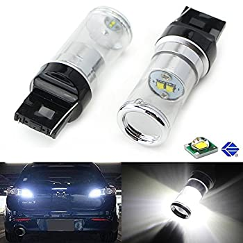 iJDMTOY Extremely Bright CREE Q5 XP-E 10W High Power 7440 7444 T20 LED Bulbs For Backup Reverse Lights, Xenon White