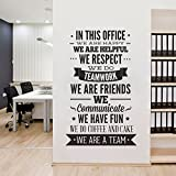 In This Office Ultimate Typography Decal Sticker Motivational Office Decor - 47.2 x 77.6 inches - 120 x 197 cm