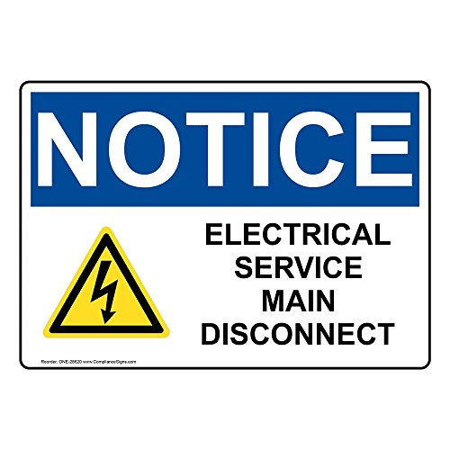 service disconnect sign - 2