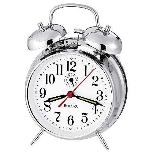 Bulova B8127 Bellman II Alarm Clock, Chrome
