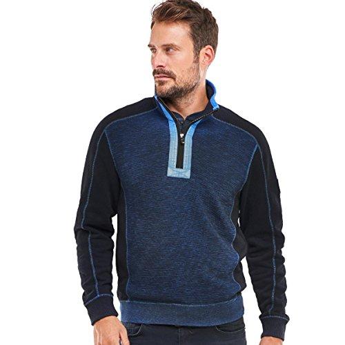 engbers Herren Sweatshirt Stehbund, 24678, Blau